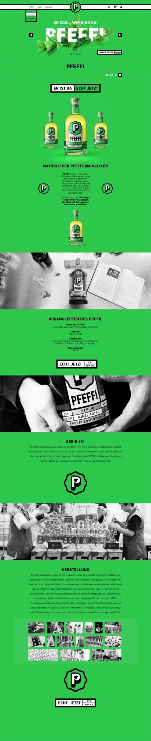 PFEFFI Website Onepage Screen Mainpage
